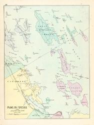 Affordable maps of maine posters for sale at allposters 1880 falmouth foreside and adjacent islands in casco bay maine united states freerunsca Image collections