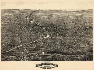 1880, Rochester 1880 Bird's Eye View, New York, United States