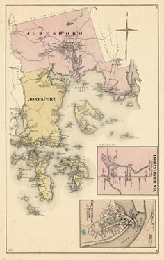 1881, Jonesboro, Jonesport, Indian River Village, Whitneyville Village, Maine, United States