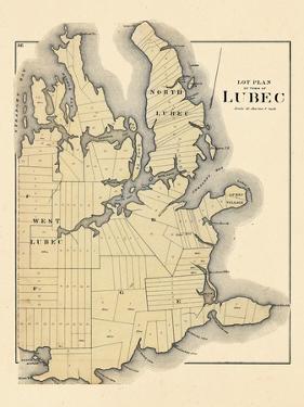 1881, Lubec Lot Plan, Maine, United States