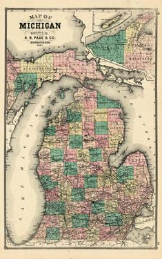 Affordable Maps Of Michigan Posters For Sale At AllPosterscom - Map of wisconsin and michigan