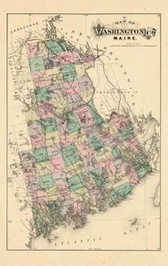 1881, Washington County Map, Maine, United States