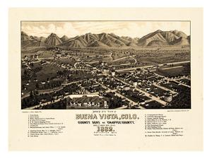 1882, Buena Vista Bird's Eye View, Colorado, United States