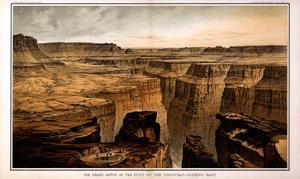 1882, Grand Canyon - Sheet VI - The Grand Canon at the foot of the Toroweap-Looking East, Arizona