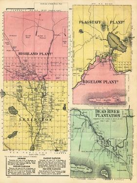 1883, Highland Plantation, Flagstaff Plantation, Bigelow, Lexington, Dead River, Maine, USA