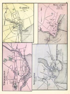 1884, Camden, Wiscasset Village, Thomaston Village, New Castle Village, Damariscotta Village, Maine