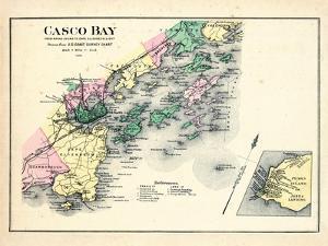 1884, Casco Bay, Scarborough, Cape Elizabeth, Portland, Falmouth, Cumberland, Yarmouth