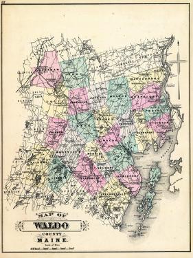 1884, Waldo County Map, Maine, United States