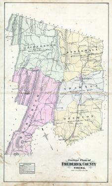 1885, Frederick County Outline Map, Virginia, United States