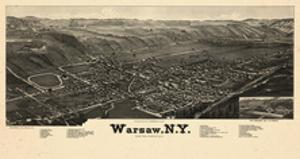 1885, Warsaw 1885 Bird's Eye View 24x43, New York, United States