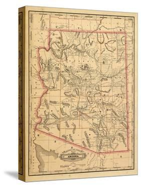 1887, Arizona State Map, United States