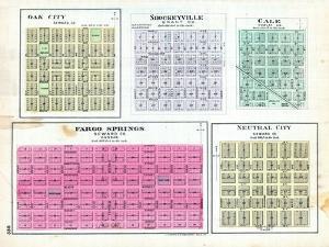 1887, Oak City, Shockeyville, Cale, Fargo Springs, Neutral City, Kansas, United States
