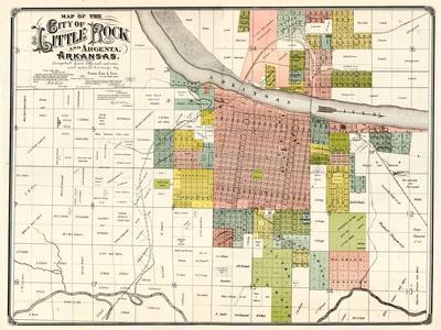 Maps Of Arkansas Posters At AllPosterscom - Little rock arkansas on us map