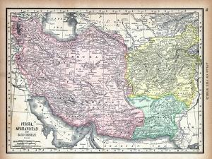 1890, Afganistan, Iran, Iraq, Asia, Persia, Afghanistan and Baluchistan