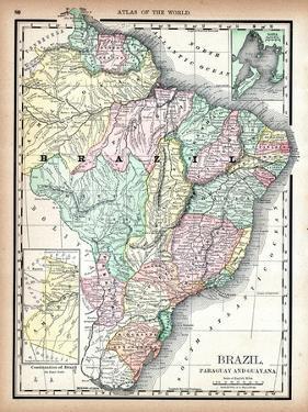 1890, Brazil, Guyana, Paraguay, South America, Brazil, Paraguay and Guayana