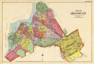 1890, Brooklyn City Map, New York, United States