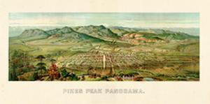 1890, Pikes Peak Panoramic View, Colorado, United States