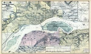 1894, Davenport 2, Rock Island and Moline - Topographical Map, Iowa, United States