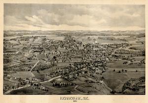 1895, Kennebunk Bird's Eye View, Maine, United States