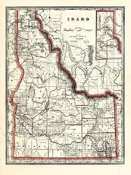 Affordable Maps of Idaho Posters for sale at AllPosters.com