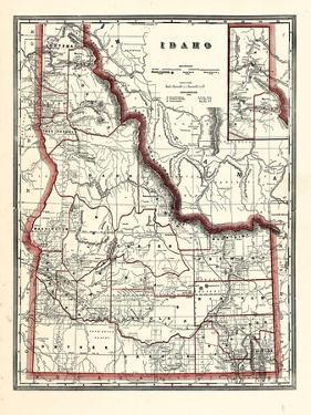 1896, Idaho State Map 24x29, Idaho, United States