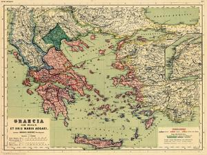 1898, Greece, Albania, Turkey, Macedonia, Bulgaria, Europe, Graecia