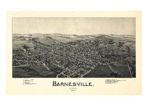 1899, Barnesville Bird's Eye View, Ohio, United States