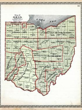 1899, State Map - Government Surveys, Ohio, United States