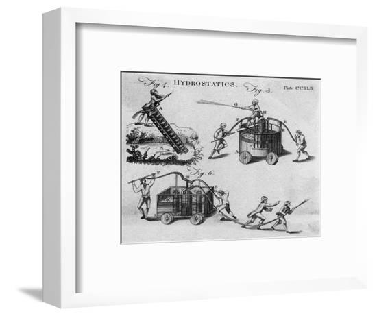 18th Century Fire Engines--Framed Giclee Print