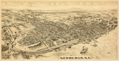1900, Newburgh, Bird's Eye View, New York, United States