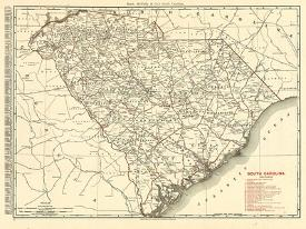 Affordable Maps of South Carolina Posters for sale at AllPosters.com