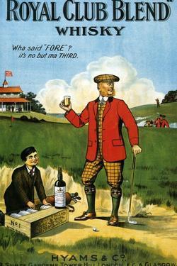 1900s UK Royal Club Blend Whisky Poster