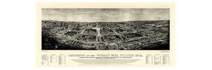 1904, Saint Louis World's Fair Bird's Eye View Published by Melville, Missouri, United S