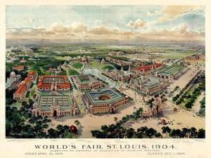 1904, Saint Louis World's Fair Bird's Eye View Unattributed Publisher, Missouri, United