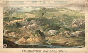 1904c, Yellowstone National Park  Bird's Eye View, Wyoming, United States