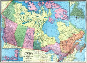 1906, Canada, North America, Dominion of Canada, Artic Regions, Franklin District, Newfoundland