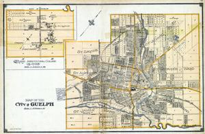 1906, Guelph City, Ontario Agricultural College and Vicinity, Canada