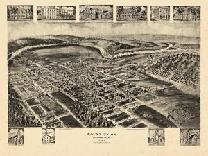 1906, Mount Union Bird's Eye View, Pennsylvania, United States