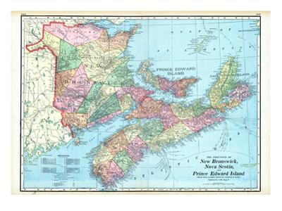 1906, New Brunswick, Nova Scotia, And Prince Edward Island - Provinces