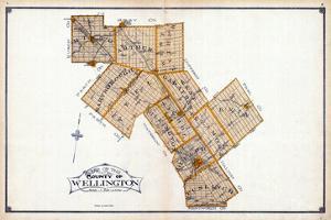 1906, Wellington County Map, Canada