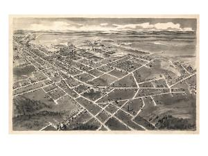 1907, Hickory Bird's Eye View, North Carolina, United States