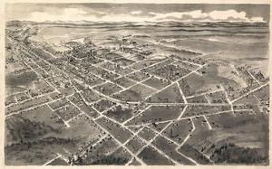 1907, Hickory Bird's Eye View, North Carolina, United States