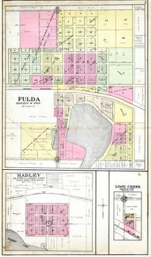 1908, Fulda, Hadley, Lime Creek, Minnesota, United States