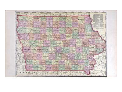 Maps of Iowa Posters for sale at AllPosterscom