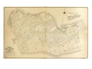 1908, Key West Wall Map from 1829 Maps and Surveys, Florida, United States