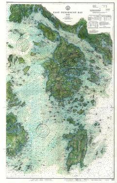 1910, East Penobscot Bay Chart with Background, Maine, Unit