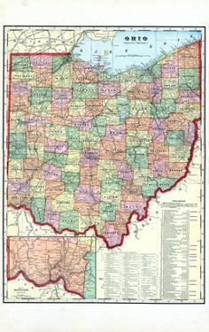 Maps Of Ohio Posters At AllPosterscom - Maps of ohio