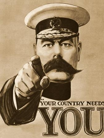 1910s UK Your Country Needs You Recruitment Poster