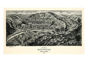 1911, Keystone Aero View 17x29, West Virginia, United States