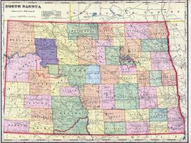Affordable Maps of North Dakota Posters for sale at AllPosters.com